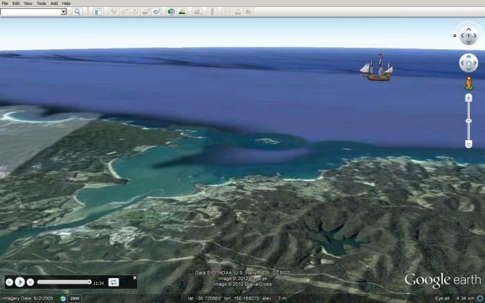 Endeavour off Bateman Bay, 21Apr1770